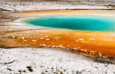 Colorful hot spring in Yellowstone national park