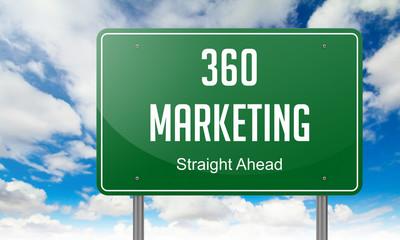 Marketing 360 on Highway Signpost.