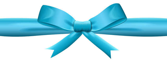 Shiny blue satin ribbon