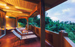 Romantic Deck on Tropical Home at Sunset - 73117063