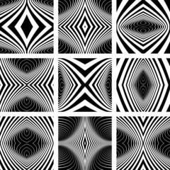 Design elements set. Symmetric patterns.