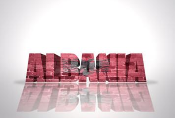 Word Albania on the white background