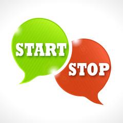 bulles rayées : start stop