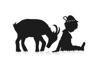 Junge und Ziege