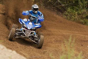 Rider driving in the quads race