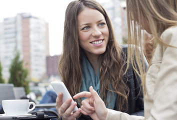 Young women with smart phone
