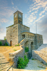 Castle and the Clock Tower of Gjirokaster, Albania, UNESCO
