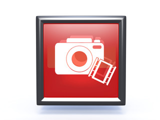 camera square icon on white background