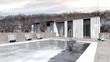 Haus mit Pool im Winter