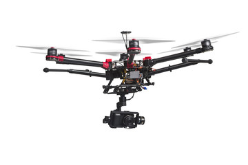 Flying drone with a camera