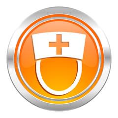nurse icon, hospital sign
