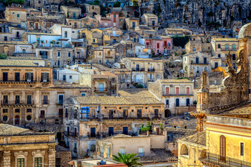 View of City of Modica from San Pietro Church