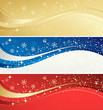 Zdjęcia na płótnie, fototapety, obrazy : Christmas color  banner with snowflakes