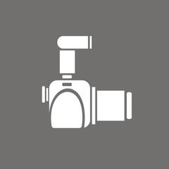 Icono cámara réflex perfil FO