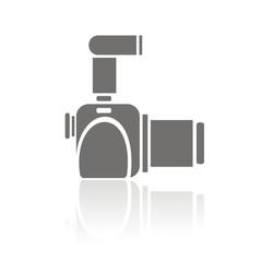 Icono cámara réflez perfil FB reflejo