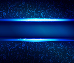 Christmas blue shiny  background
