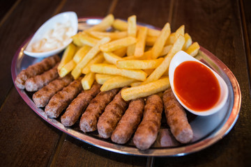 Kebab with french fries