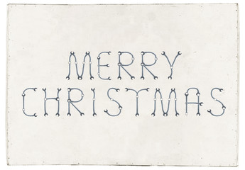 Merry Christmas greetings slogan on plywood board