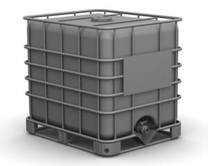 Еврокуб. Кубическая ёмкость, пластиковый контейнер