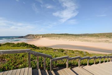 Algarve: Stairs to beach Praia da Amoreira, Aljezur Portugal