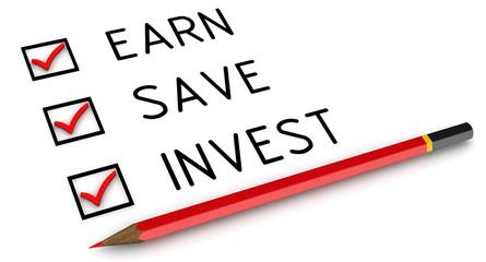 Заработать, сохранить, инвестировать. Отмеченные пункты