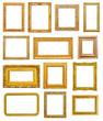 Sticker - cadres d'or sur fond blanc