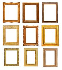 Vintage rectangular frames on white background