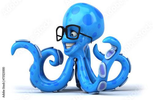 canvas print picture Fun octopus