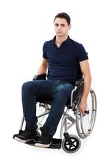 Portrait Of Confident Man Sitting In Wheelchair