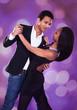 Romantic Multiethnic Couple Dancing