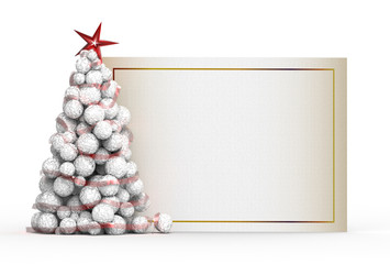 White panel and the Christmas tree