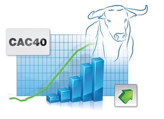 CAC haussier - CAC 40 en hausse