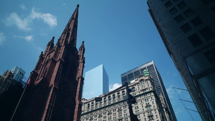 downtown broadway church 4k time lapse from new york