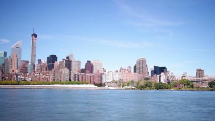 queensboro bridge park panorama 4k time lapse from new york city