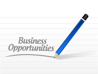 business opportunities message illustration
