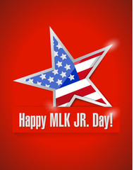 happy MLK jr day illustration design