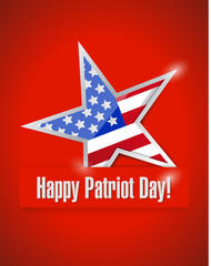 happy patriot day illustration design