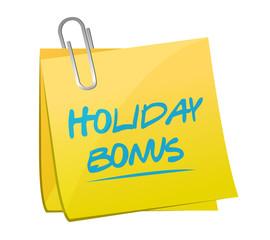 holiday bonus memo post illustration