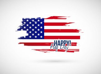 happy flag day illustration design