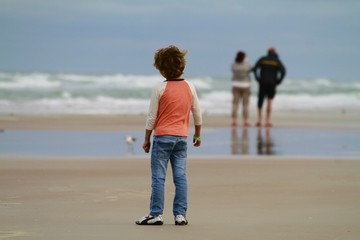 Kid at the beach - daytona
