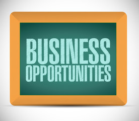 business opportunities sign message