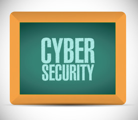 cyber security sign message illustration design
