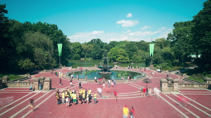 central park sunny day fountain 4k time lapse from new york city
