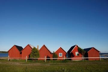 Rote Fischerhütten