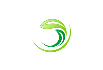 abstract leaf logo vector