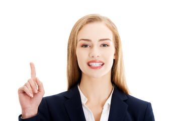 Talking businesswoman