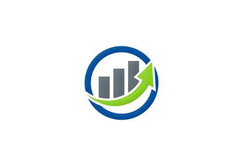 arrow graph growth logo