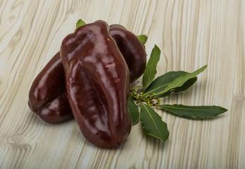 Brown Bulgarian pepper