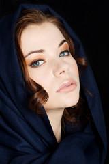 Woman wearing headkerchief