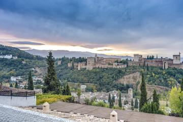 The Alhambra in Granada, Andalusia, Spain.